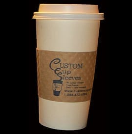 20oz hot paper cup with custom sleeve - Custom Cup Sleeves Smyrna, TN