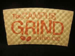 The Campus Grind Coffee bar custom coffee cup sleeve - Custom Cup Sleeves Smyrna, TN