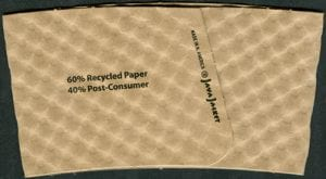 Seam of a custom coffee cup sleeve - Custom Cup Sleeves Smyrna, TN