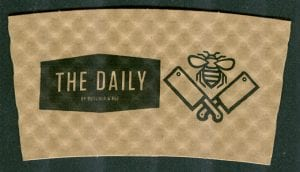 The Daily with Butcher & Bee custom sleeve - Custom Cup Sleeves Smyrna, TN