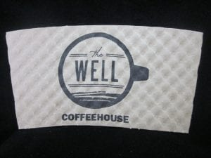 The Well Coffeehouse custom coffee cup sleeve - Custom Cup Sleeves Smyrna, TN