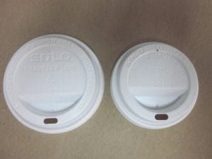 White lids with opening for hot paper cups - Custom Cup Sleeves Smyrna, TN