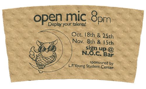 black on natural (open mic lp young center)