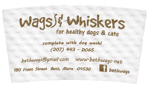 brown on white (wags & whiskers)