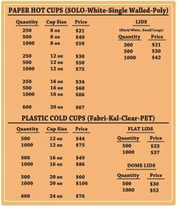 Hot paper cup and cold clear plastic cup price list - Custom Cup Sleeves Smyrna, TN