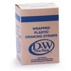 Wrapped Plastic Drinking Straws box - Custom Cup Sleeves Smyrna, TN